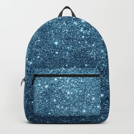 Stylish chic navy blue teal glam glitter gradient Backpack