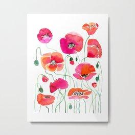 Wild Poppies Light Metal Print