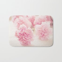 Pale Pink Carnations 2 Bath Mat