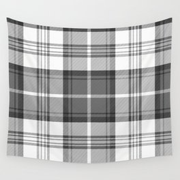 Black & White Tartan Wall Tapestry