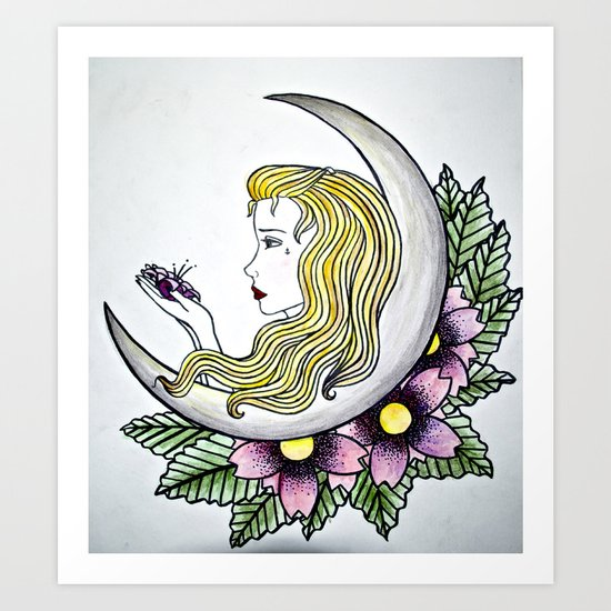 Dirty - Moon Art Print