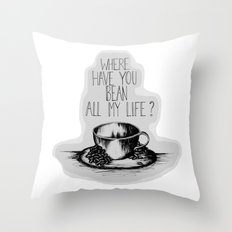 Long Lost Coffee Throw Pillow