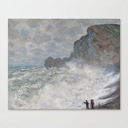 Claude Monet Rough weather at Étretat Canvas Print