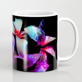 Floral Night - Dramatic Tropical Bright Neon Flower Art Coffee Mug