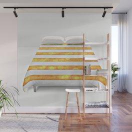 Golden Glitter Girly - Chic Stripes - Duvet Cover  Art - Decor - Magical Stripes Wall Mural