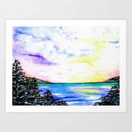 Crystal lake Art Print