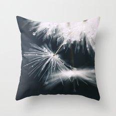 dandelion white Throw Pillow