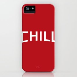 Red Chill iPhone Case