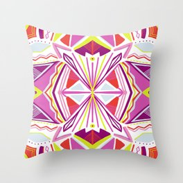 solana, tribal mandala Throw Pillow