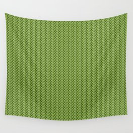 Knitted spring colors - Pantone Greenery Wall Tapestry
