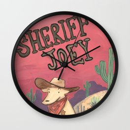 Sheriff Joey and the Rowdy Crow Wall Clock