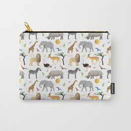 Safari Savanna Multiple Animals Carry-All Pouch