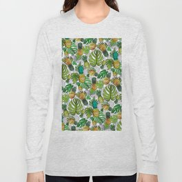Tumbling Pineapples and Tropical Vibes Long Sleeve T-shirt
