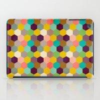 hexagon iPad Cases featuring Fun Hexagon by Louise Machado
