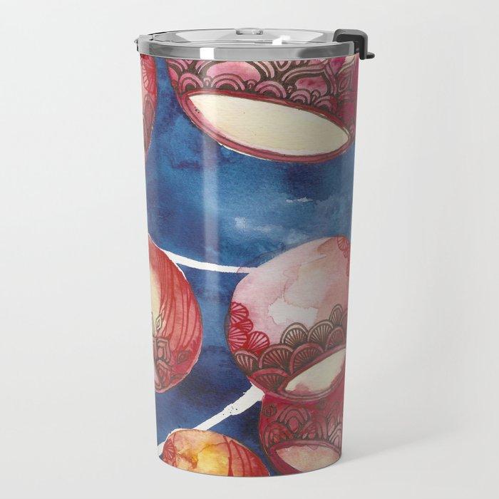 Chinese Lanterns Travel Mug