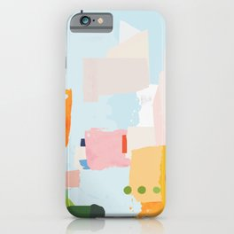 solving world hunger with pretty shapes iPhone Case