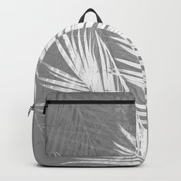 Gray Tropical Beach Palm Backpack