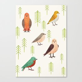 Birds & Forest Canvas Print