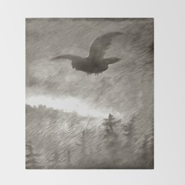 Stealth And Surprise Of The Night Owl Throw Blanket