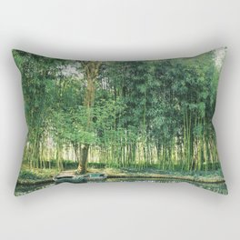 Monet's Water Garden Rectangular Pillow