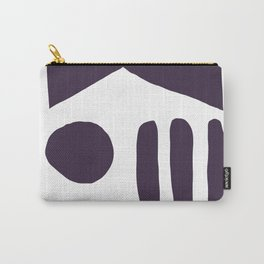 Shapes No1 in Black Carry-All Pouch