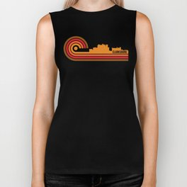 Retro Style Clarksburg West Virginia Skyline Biker Tank