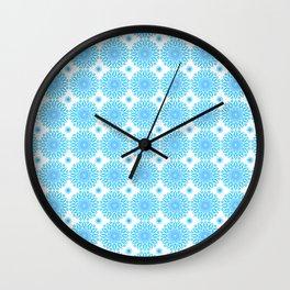 Background - blue mandala (zendala), abstract graphic-design vector pattern. Wall Clock