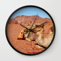 camel Wall Clocks featuring camel by lularound