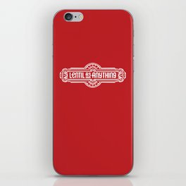 Lentil as Anything - Red iPhone Skin