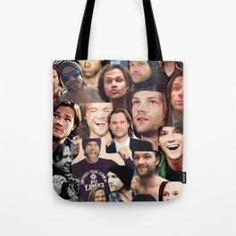 Jared Padalecki Collage Tote Bag
