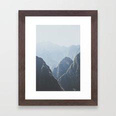 Mountains around Machu Picchu Framed Art Print