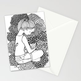 Girl Loves Cat Stationery Cards