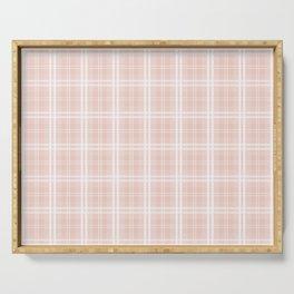 Spring 2017 Designer Color Pale Pink Dogwood Tartan Plaid Check Serving Tray