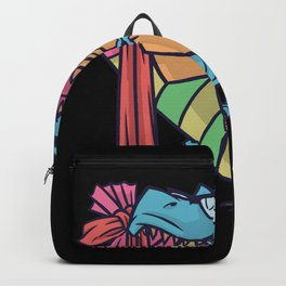 Trex With School Bag Dinosaurs School Backpack