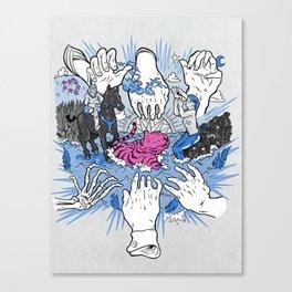 Foul Fingers Canvas Print