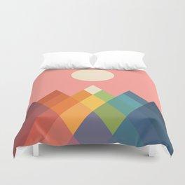 Rainbow Peak Duvet Cover