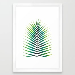 Tropical Palm Leaf #1 | Watercolor Painting Framed Art Print