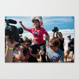 Sally Fitzgibbons Surf, Hossegor- France - 2013 Canvas Print