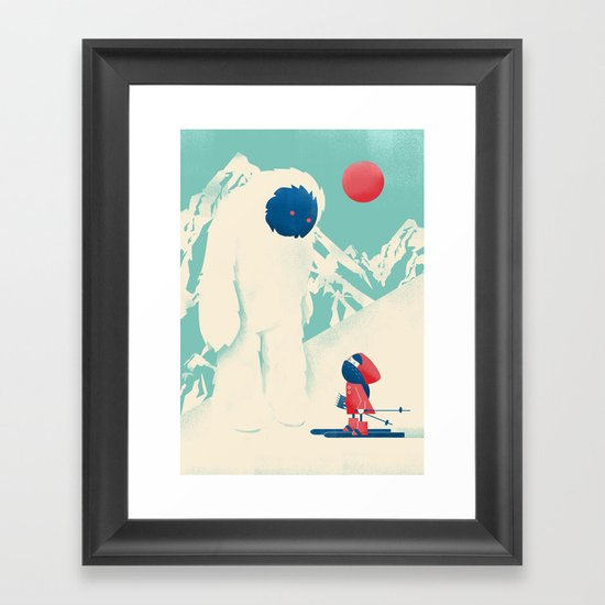 Encounter on the Bunny Slope Framed Art Print