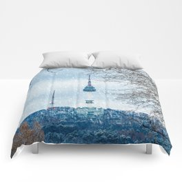 Seoul Tower - Winter Comforters