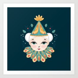 Circus Clown Art Print