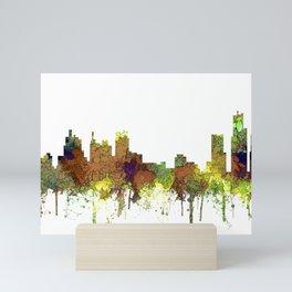 Detroit, Michigan Skyline SG - Spring Buff Mini Art Print