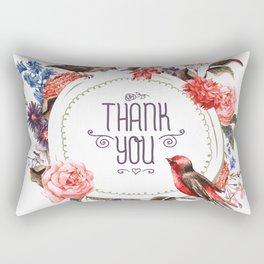 Thankful Birds Rectangular Pillow