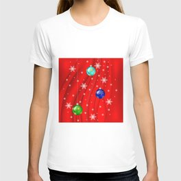 Christmas balls with background T-shirt