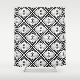 iDeal - B&W Psychedelic Shower Curtain