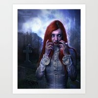 witchcraft Art Prints featuring WitchCraft by Nicole Omernick (nikkidoodlesx3)