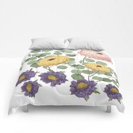 Zinnias Comforters