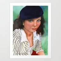 american beauty Art Prints featuring American Beauty by Ellen Sullivan Farley