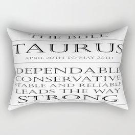 Taurus Zodiac Art Rectangular Pillow
