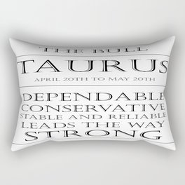 Taurus Zodiac Art Rectangular Pillow